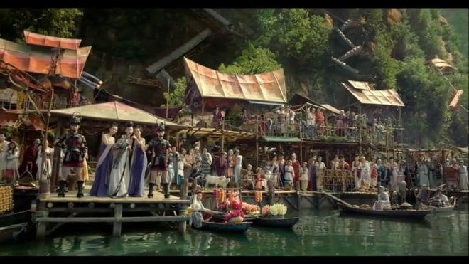 1000 mỹ nữ lưng trần nuột nà tắm suối gây mê mẩn trong phim chiếu Tết 1
