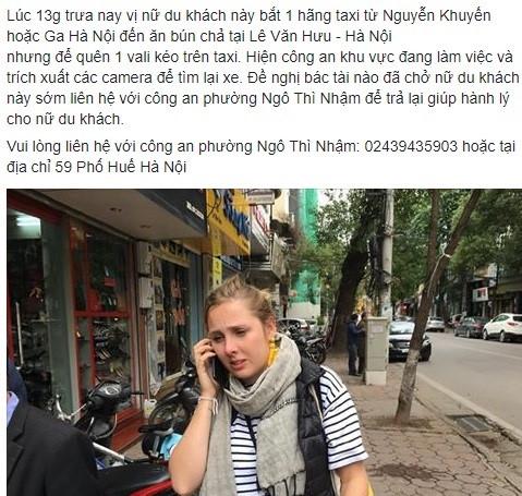Hình ảnh Cộng đồng mạng kêu gọi giúp đỡ chia sẻ thông tin giúp khách Tây tìm hành lý bị mất khi vừa đến Hà Nội số 1