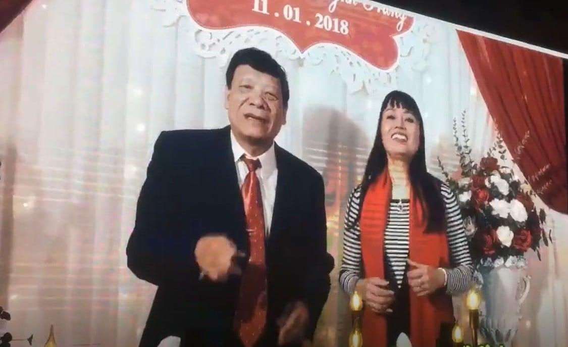 Bố mẹ Nhật Anh Trắng bắn rap cực chất trong đám cưới của con trai 2