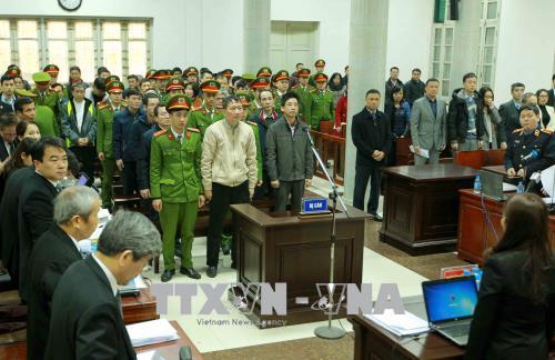 Hình ảnh Hình ảnh phiên tòa xét xử Trịnh Xuân Thanh và đồng phạm 15/1 số 1