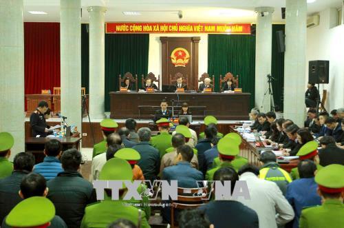 Hình ảnh Hình ảnh phiên tòa xét xử Trịnh Xuân Thanh và đồng phạm 15/1 số 3