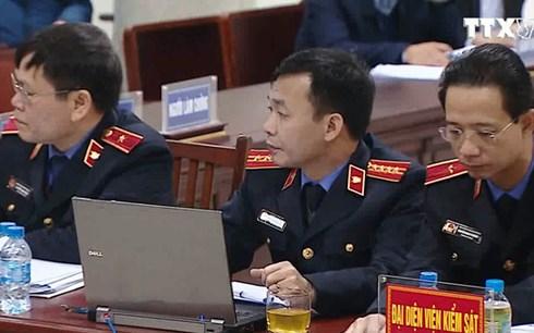 Hình ảnh VKS khẳng định ông Đinh La Thăng có vai trò chủ mưu, xuyên suốt số 1