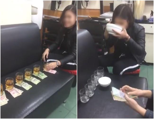 Clip: Cô gái Tuyên Quang uống hết 1 bát to và 6 cốc rượu lớn để lấy xấp tiền sau lời thách đố gây tranh cãi 2