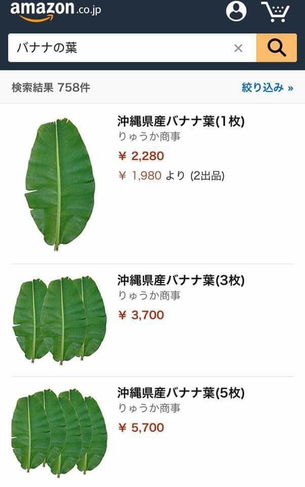 Lá chuối Việt Nam bán tại Nhật giá 500.000 đồng/chiếc 1