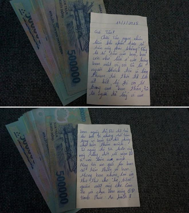 Hà Nội: Trộm trả lại tiền sau 3 năm cho khổ chủ cùng bức tâm thư bất ngờ 1