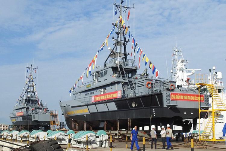 Bộ đội Biên phòng tổ chức lễ hạ thủy 2 tàu tuần tra cao tốc tối tân 1