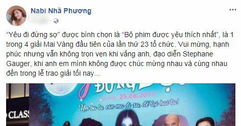 Nhã Phương treo status đầu tiên sau màn cầu hôn của Trường Giang trên sóng trực tiêp 1
