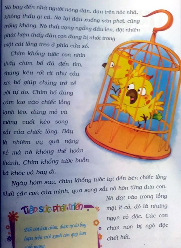 Phụ huynh choáng trước hình ảnh để được tự do chim khổng tước đầu độc cả đàn con trong truyện ngụ ngôn dành cho trẻ em - Ảnh 3.