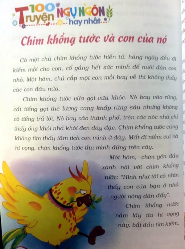 Phụ huynh choáng trước hình ảnh để được tự do chim khổng tước đầu độc cả đàn con trong truyện ngụ ngôn dành cho trẻ em - Ảnh 2.