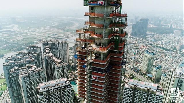 Cận cảnh tòa tháp cao nhất Việt Nam Landmark 81 chuẩn bị cất nóc 1