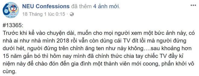 Cô gái khoe chiếc TV xài 15 năm mới