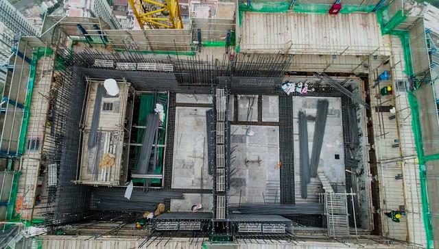 Cận cảnh tòa tháp cao nhất Việt Nam Landmark 81 chuẩn bị cất nóc 5