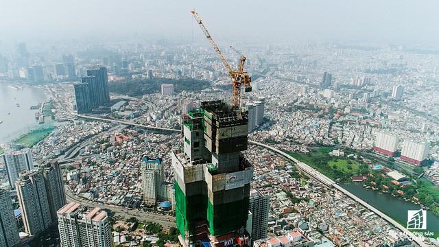 Cận cảnh tòa tháp cao nhất Việt Nam Landmark 81 chuẩn bị cất nóc 7