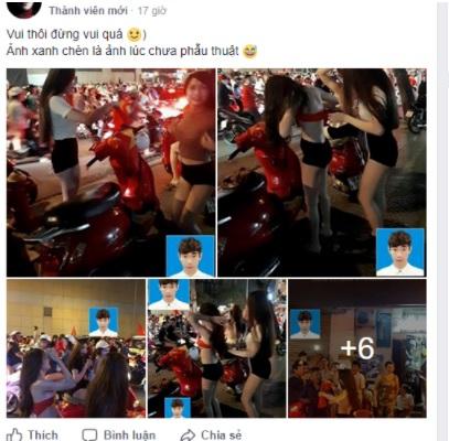 Lộ ảnh thẻ thời con trai của cô gái khoe thân phản cảm trong trận đấu U23 Việt Nam gặp Iraq 13
