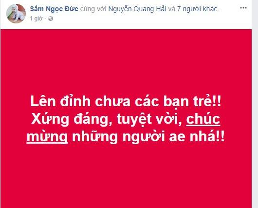 Công Vinh, Quốc Vượng lên tiếng chúc mừng U23 Việt Nam 3