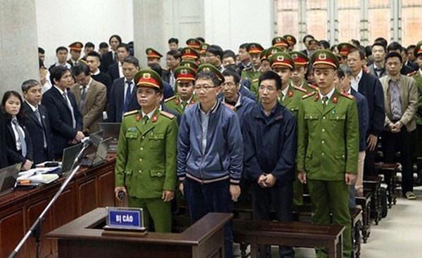 Sáng nay, tòa quyết định mức án với bị cáo Đinh La Thăng, Trịnh Xuân Thanh và đồng phạm 1