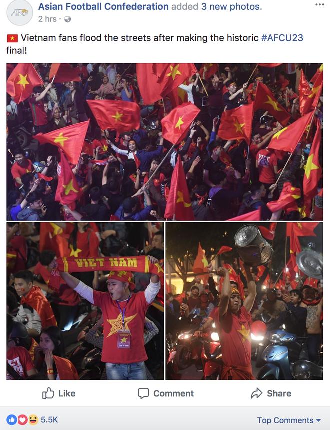 FIFA, AFC, báo châu Á đồng loạt đăng tin Việt Nam trắng đêm ăn mừng chiến tích 5