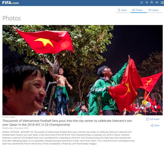 FIFA, AFC, báo châu Á đồng loạt đăng tin Việt Nam trắng đêm ăn mừng chiến tích 2
