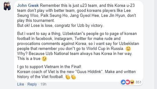 Fan Hàn, Nhật bùng lửa giận, nhờ U23 Việt Nam phục thù Uzbekistan 2