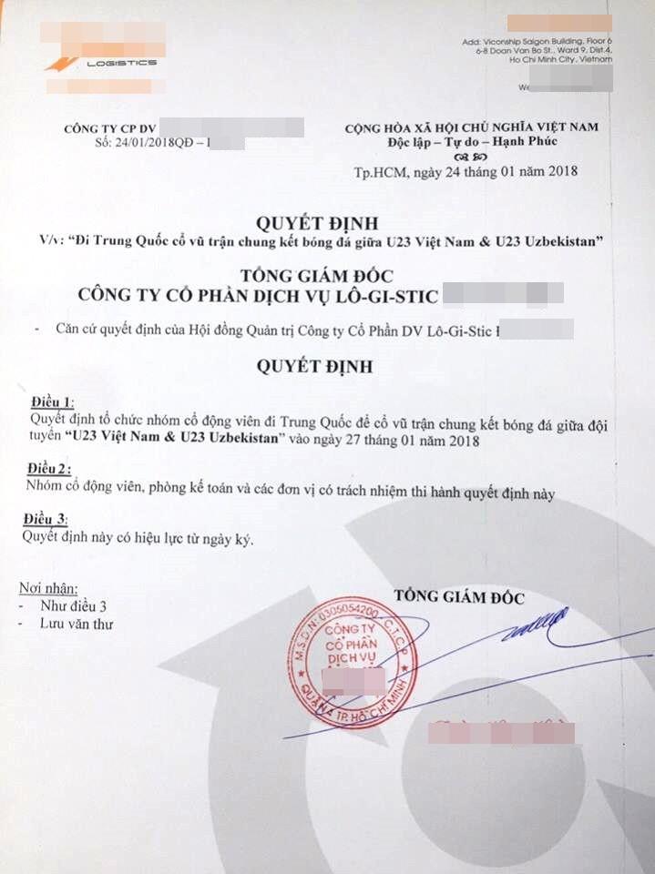 Công ty sướng nhất năm: Được sếp cho nghỉ xem bán kết U23, chung kết được đài thọ sang Trung Quốc 4 ngày - Ảnh 2.
