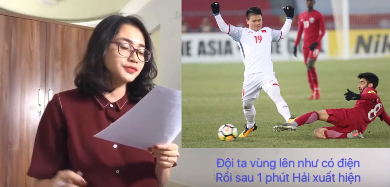 Cô gái kể lại chi tiết trận bán kết gay cấn của U23 Việt Nam chỉ bằng một bài hát - Ảnh 2.