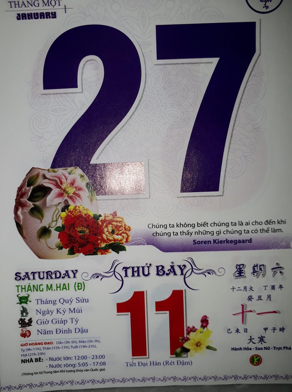 Sau quyển lịch tiên tri gây sốt, cộng đồng mạng thi nhau khoe ảnh lịch ngày 27/1 để tiên đoán kết quả cho U23 Việt Nam - Ảnh 8.