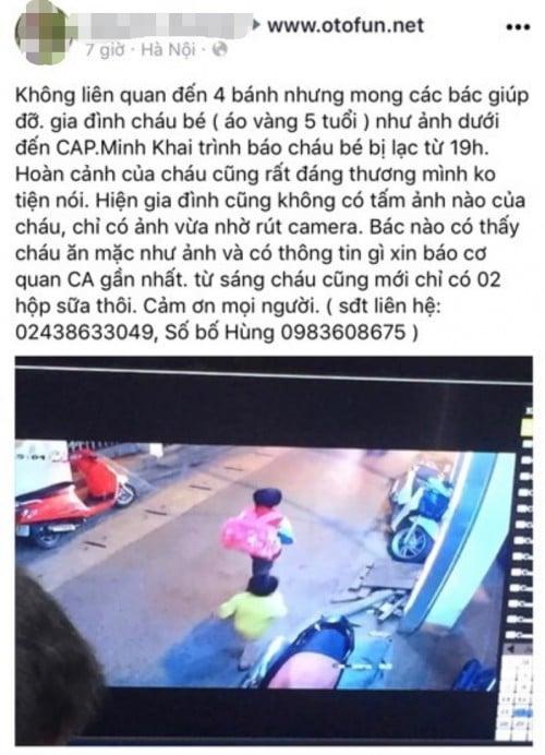 Người bố ở Hà Nội thất thần cầu cứu cộng đồng mạng, nhờ tìm kiếm con trai 5 tuổi mất tích bí ẩn 1