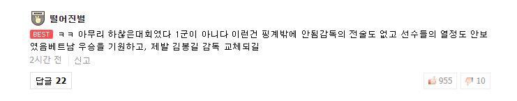 Người hâm mộ Hàn Quốc đòi thay tướng, mong U23 Việt Nam vô địch 4
