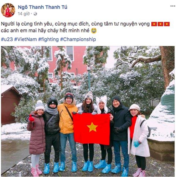Sao Việt người bỏ show, người hào hứng sang Trung Quốc cổ vũ U23 Việt Nam 1