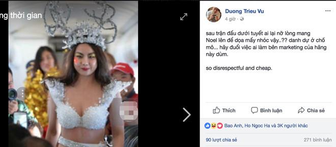 Hàng loạt sao Việt bức xúc với bức hình người mẫu mặc hở hang đón U23 Việt Nam 3