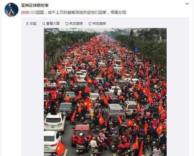 Trung Quốc kinh ngạc vì người hâm mộ Việt Nam quây kín con đường dài 30 km để chào đón đội tuyển U23 trở về 5