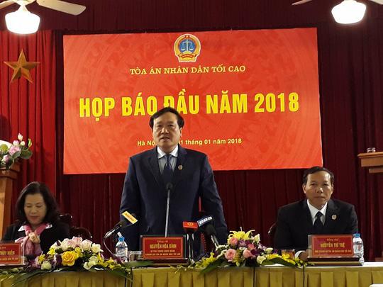 Hình ảnh Chánh án TANDTC:  Phiên tòa đại án Đinh La Thăng có nhiều thành công số 1
