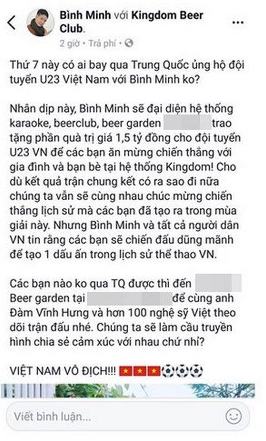 Sao Việt hứa thưởng cho U23 Việt Nam, ai đã thực hiện được lời hứa? 2
