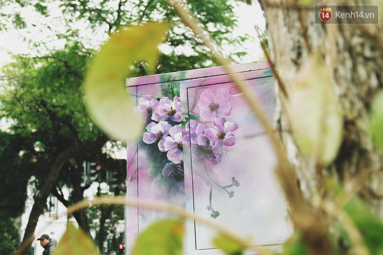 Chùm ảnh: Bốt điện nhếch nhác ở trung tâm Hà Nội xúng xính khoác áo mới chào xuân - Ảnh 5.