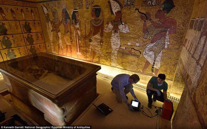 Hình ảnh Hé lộ bí mật về nữ hoàng Nefertiti khi quét radar lăng mộ Pharaoh Tutankhamun số 1