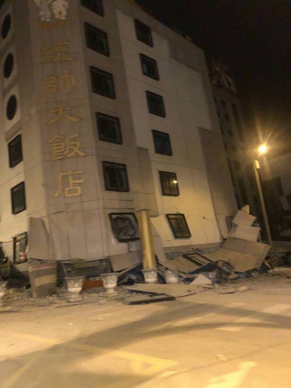 Đài Loan: Động đất mạnh 6 độ richter gây đổ sập nhiều toà nhà, hư hỏng đường sá 2