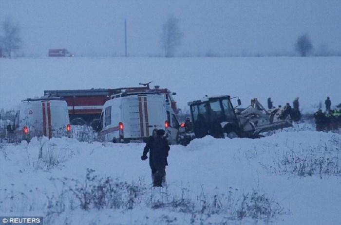 Vụ máy bay Nga rơi 71 người thiệt mạng: Rơi 112 m/giây 1