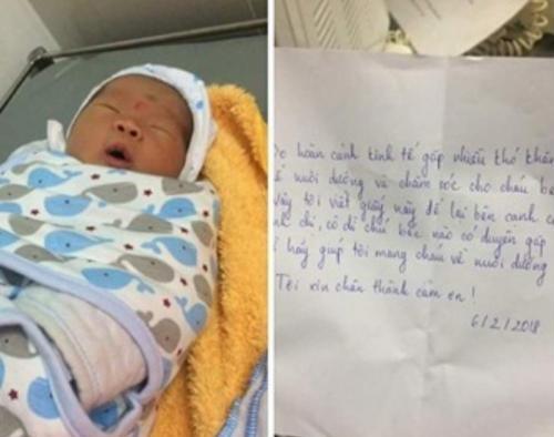 Hình ảnh Ngày cận Tết, bé gái 4 tháng tuổi bị bỏ rơi, người mẹ hứa không bao giờ tìm con số 2