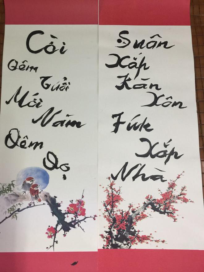 PGS Bùi Hiền chuyển đôi câu đối Tết sang ngôn ngữ 'Tiếw Việt' 3