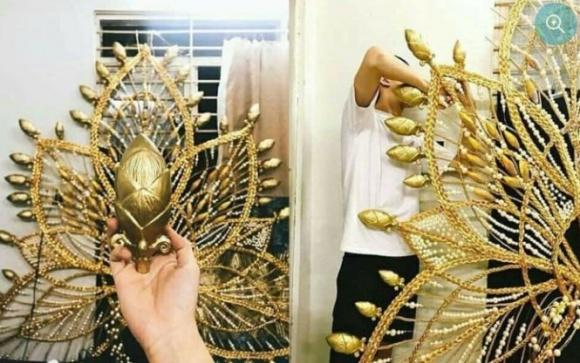 Bất ngờ trước màn thử trang phục dân tộc nặng 55kg của Hương Giang Idol mang đi thi Hoa hậu Chuyển giới 4