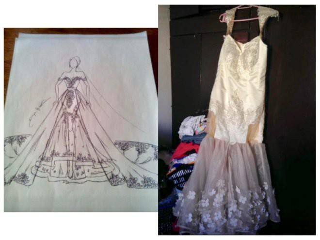 Nhờ bạn may váy cưới với giá 15 triệu đồng, cô dâu tá hỏa khi nhận được sản phẩm ngoài sức tưởng tượng 1