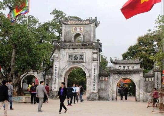 Hình ảnh 2.000 nhân viên an ninh ra quân lập 5 vòng bảo vệ lễ Khai ấn đền Trần số 1
