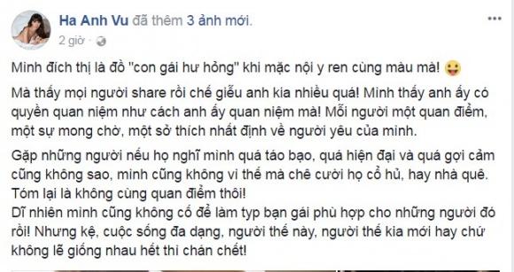 """Không chỉ cư dân mạng, dàn mỹ nhân Việt cũng bàn tán về chuyện """"mặc quần lót ren là gái hư?"""" 5"""