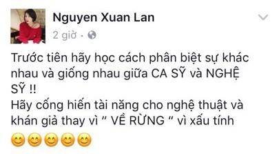 Xuân Lan 'dằn mặt' Á quân Vietnam Idol 2012 xấu tính vì cố tình phát ngôn gây sốc 1