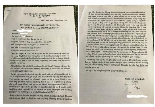Bản tường trình của cô giáo quỳ gối xin lỗi phụ huynh trong suốt 40 phút 1