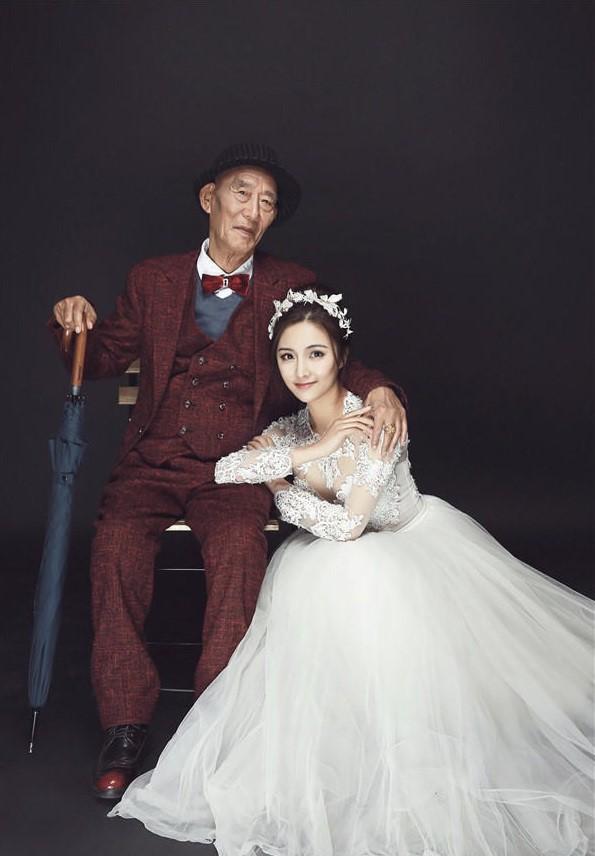 Bộ ảnh cưới của cô gái trẻ và cụ ông 87 tuổi khiến dân mạng xôn xao - Ảnh 3.