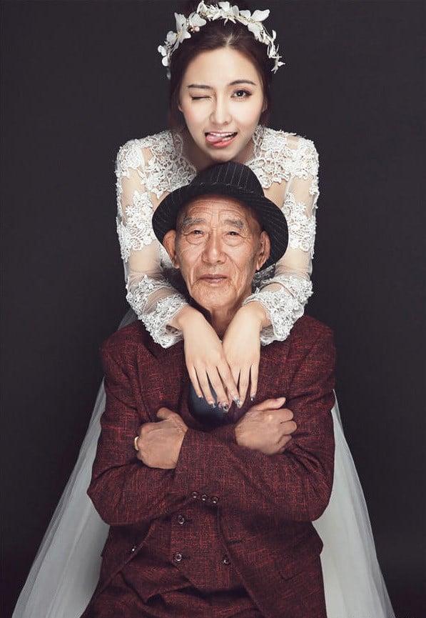 Sự thật xúc động sau bộ ảnh cưới giữa cô gái 25 và cụ ông 87 tuổi  3