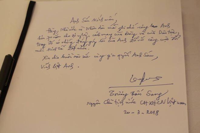 Những lời tiếc thương đồng chí Sáu Khải của lãnh đạo Đảng, Nhà nước trong sổ tang 8