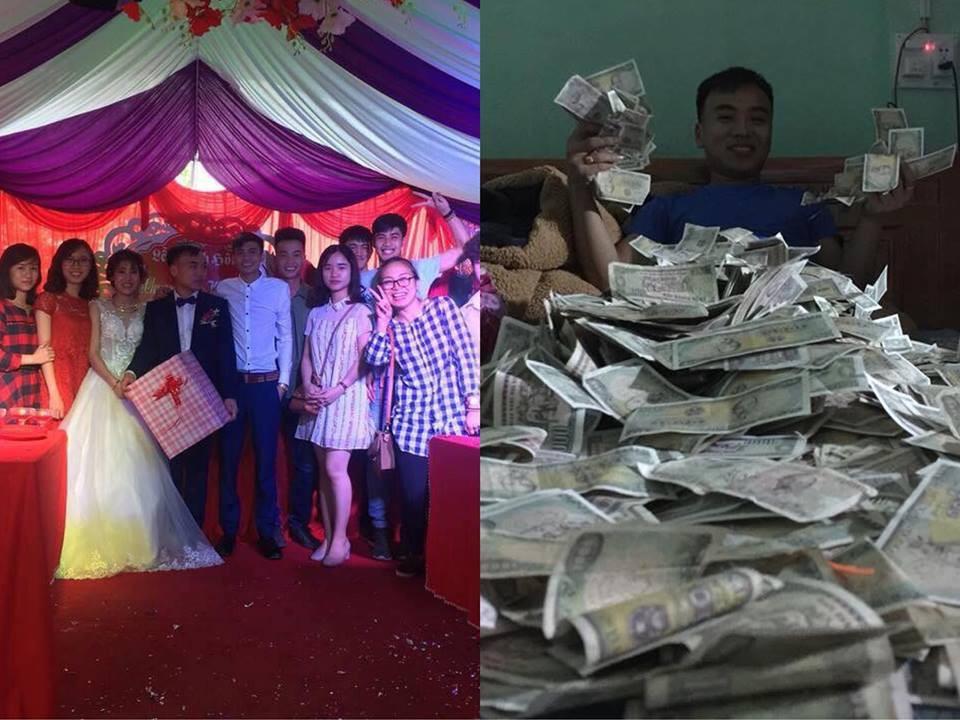 Mừng cưới bằng tiền lẻ trở thành trào lưu mới, nhiều cặp đôi thức trắng đêm tân hôn chỉ để đếm tiền 1