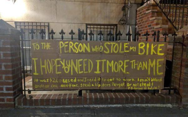 Câu chuyện bất ngờ đằng sau chiếc xe đạp bị đánh cắp: Hóa ra lòng tốt vẫn còn đây! 1